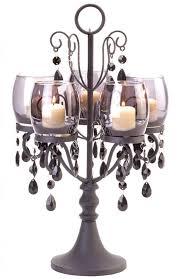 black beaded crystal chandelier candelabra candle holder wedding