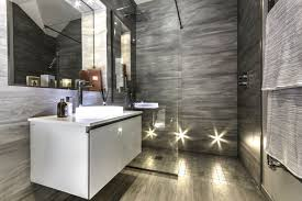 luxury modern bathrooms round light recessed ceiling lamp white