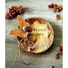 ring holder for wedding ring bearer bowl dish pillow alternative butterfly wedding r
