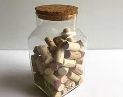 Unique Storage Clear Glass Jar Etsy
