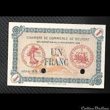 chambre du commerce belfort 1 franc belfort chambre de commerce banknotes divers