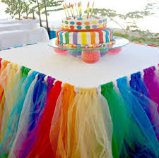 Amazon Stuffwholesale Fitted Tulle Table Skirt Baby Shower
