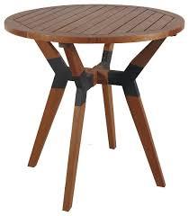 mid century bistro table 30 eucalyptus and metal bistro table midcentury outdoor pub and