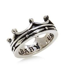 baby rings jewelry images King baby jewelry sterling silver continuous crown ring 7756590 jpg