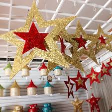 Christmas Decorations Sale Clearance Ireland by Christmas Ornaments Shiny Star Xmas Tree Ceiling Wall Hanging
