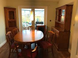 dining room table six chairs dining room table six chairs corner unit welsh dresser and stereo