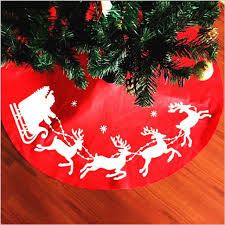 tree skirts 100cm christmas tree skirt embroidery christmas elk