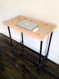 Steel Pipe Desk by The U0026quot Edison U0026quot Reclaimed Wood Standing Desk Reclaimed