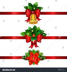 holiday christmas decorations gold bell bow stock vector 525958714