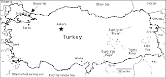 printable pictures of turkey the country turkey enchantedlearning com