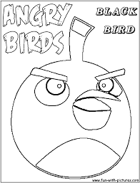 angrybirds blackbird coloring page angry birds john u0027s bday