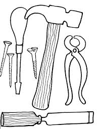 Tools Coloring Pages Hammer Coloring Page Vitlt Com Tools Coloring Page
