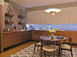 1960s Kitchen Vintage 1960s Kitchen Contemporary With Patterned Area Rug Wall