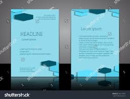 Invitation Blank Card Stock Modern Abstract Material Design Background Flyer Stock Vector