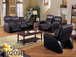 Black Leather Sofa Recliner Furniture Fabulous Genuine Leather Sofa For Your Living Room