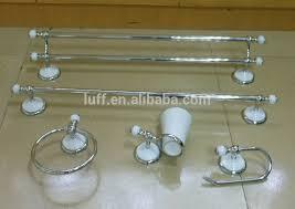 wallmounted white and chrome ceramic bathroom accessories set 5