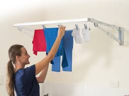 Clothes Line Dryer Indoor Folding Frame Clothesline Foldown Clothesline
