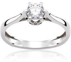 pierscionek zareczynowy pierścionek zaręczynowy light 0 42 ct z brylantem białe