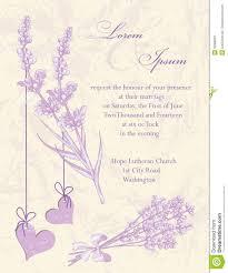 Salon Invitation Card Wedding Invitation Card Lavender Background Stock Vector Image
