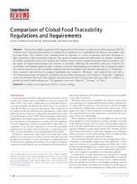 comparison of global food traceability regulations and