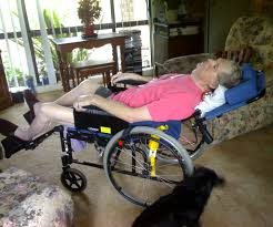 multiple sclerosis carer reclining wheelchair