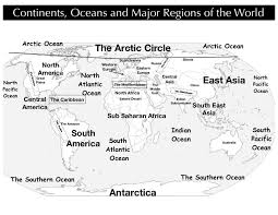Regions World Map by Continents Ocean Regions World Map Jpg
