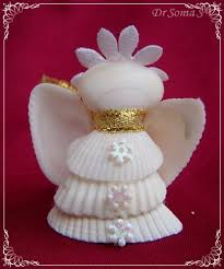 Seashell Craft Ideas For Kids - christmas ideas shell crafts u2013 shell angels and altered bottle