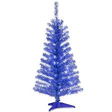 tinsel tree national tree 4 foot blue tinsel tree with plastic
