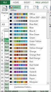 colour themes for excel customizing the pivot table appearance with styles and themes