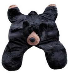 amazon com soft and cuddly cute black bear floor throw area rug