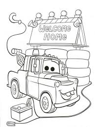 cars print kids coloring