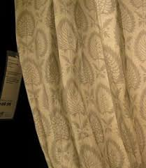Leaf Curtains Ikea Ikea Blã Vinge Curtains With Tie Backs Beige Brown Botanical 98