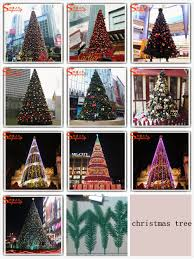 wholesale artificial giant christmas tree light made of plastic