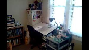 Art Studio Desk by My New Art Studio Setup Youtube