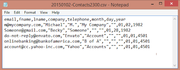 csv format outlook import filter and save contacts to a csv file