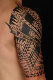 awesome black ink tribal polynesian tattoos on half sleeve real