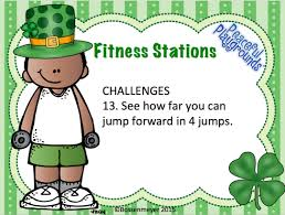 p e station cards fitness st patrick u0027s day peaceful playgrounds