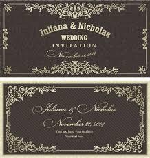 Wedding Invitation Cards Decorative Pattern Wedding Invitation Cards Vector Set Free Vector