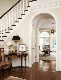 Wainscoting On Stairs Ideas Foyer Foyers Traditional And Woods