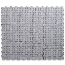 carrara marble tile italian white carrera 1x2 basketweave mosaic w