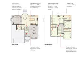 floor plan stairs move the staircase for better circulation and storage builder