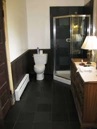 slate bathroom ideas black slate bathroom flooring ideas with corner shower stall