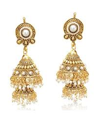 gold earrings for marriage decker pearl jhumka south indian temple style bridal