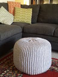 Knitted Ottoman Pattern Knitted Ottoman Pouf Floor Cushion Delaney