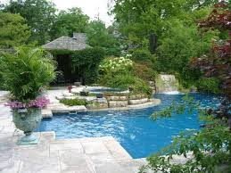pool garden ideas swimming pool with urn and evergreens outdoor swimming pool
