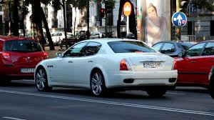 maserati white sedan white maserati quattroporte in madrid youtube