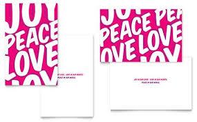 joy christmas card template template business
