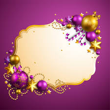ornament frame in gold and purple vector