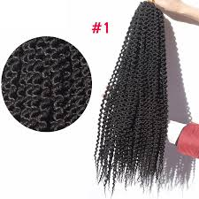 Synthetic Hair Extension by Can Be Unravelled Crochet Braids Curly Freetress Hair 20inch Long