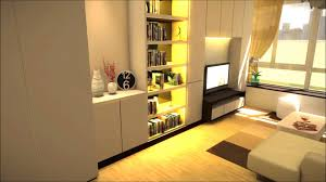 decor tv wall unit with bookshelves and sofa for small basement